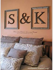 25 best ideas about monogram above bed on pinterest for Monogram letters above bed