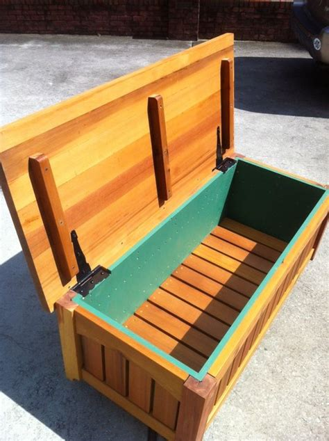 outdoor wood storage bench treenovation
