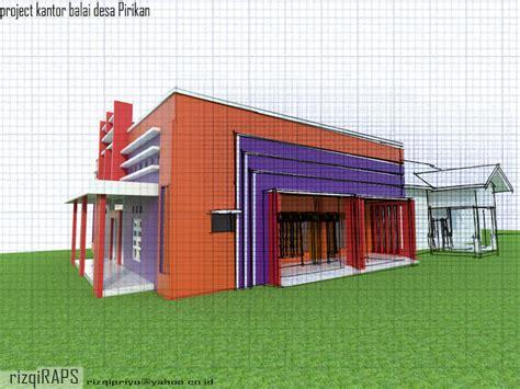 desain kantor desa pirikan desain rumah