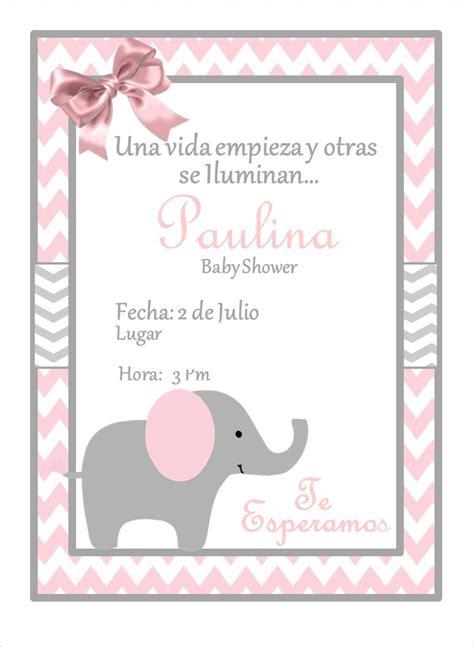 invitaci 211 n elefante baby shower personalizada de ideasglint en etsy babyshower