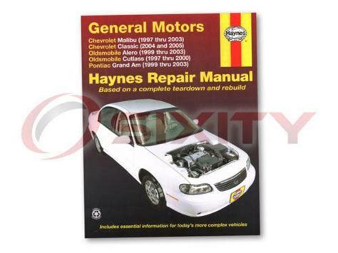 1999 Pontiac Grand Am Repair Manual by Pontiac Grand Am Repair Manual Ebay
