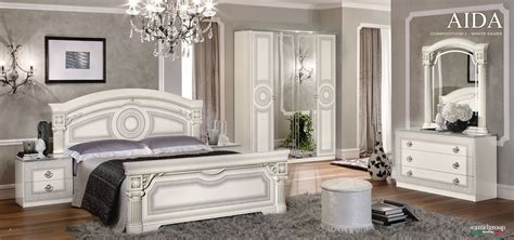 white and silver bedroom aida italian bedroom set in white silver free shipping 1249