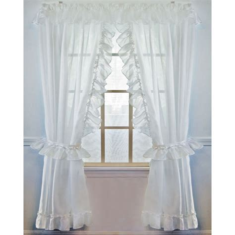 Jessica Sheer Ruffled Extra Wide Priscilla Curtain Pair