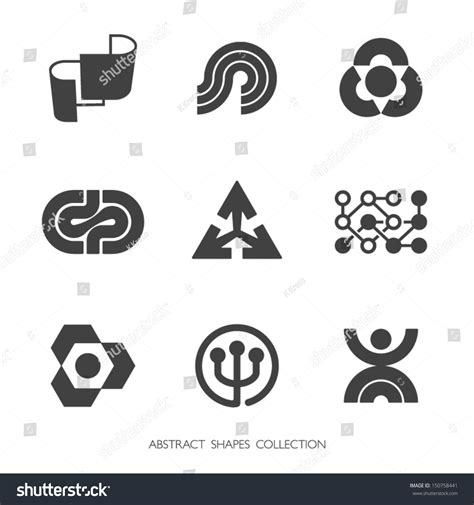Abstract Shapes Collection abstract shapes collection vector icons set 150758441