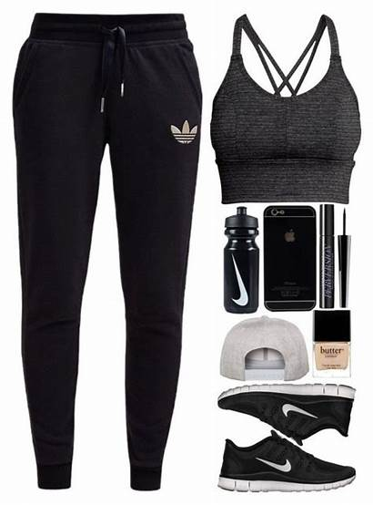 Outfits Workout Polyvore Baddie Adidas Shoes Clothes