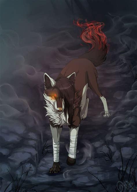 burn   aviaku  deviantart anime wolf drawing