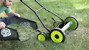 Sun Joe 18 In  Manual Reel Mower W   Grass Catcher
