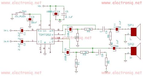 Tda Audio Power Amplifier Circuit Diagram World