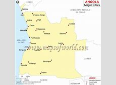 Angola Cities Map, Cities in Angola