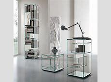 Tonelli Liber Glass Bookcase Modern Bookcases Tonelli