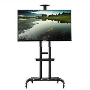 Tv Ständer Rollen : ava1800 mobiler st nder mit rollen und universal tv adapter f r displays 55 80 bis 90 9kg ~ Whattoseeinmadrid.com Haus und Dekorationen