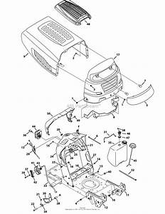 Mtd 13an775s000  2012  Parts Diagram For Hood Style 5