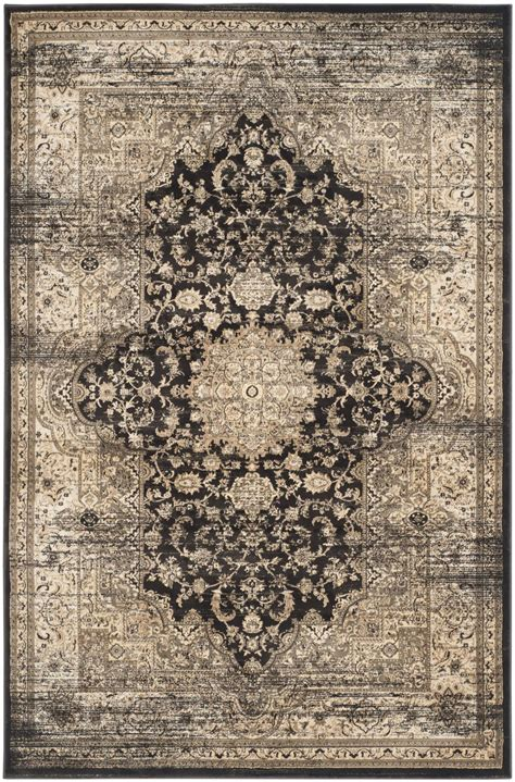 Safavieh Retro by Safavieh Vintage Vtg574f Black And Ivory Area Rug Free
