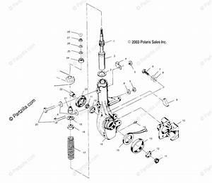 Polaris Atv 2001 Oem Parts Diagram For Front Strut