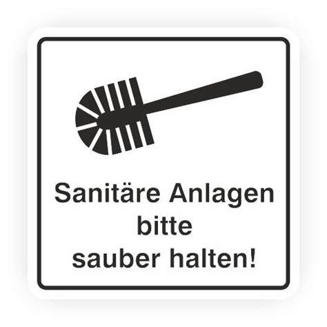 toilette sauber halten piktogramm sanit 228 re anlagen bitte sauber halten