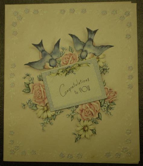 congratulations greeting card vintage wedding