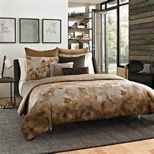 8 pc kenneth cole dream queen comforter set abstract brown