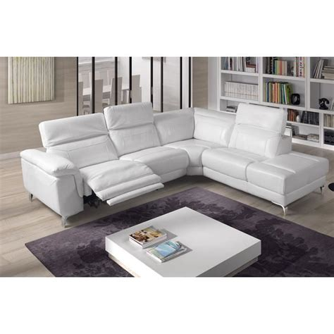 canape relax electrique roche bobois canap 233 d angle relax 233 lectrique cuir blanc tudor angle gauche achat vente canap 233 sofa