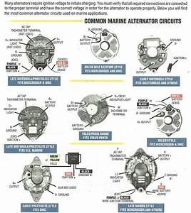 Motorola Marine 50 Amp Alternator Connection Description