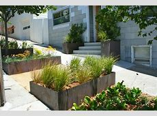 brick planter boxes landscape contemporary with grasses l
