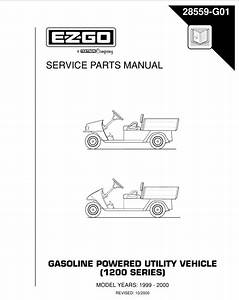 Ez Go Service Manual Gas 1200 Series 1999 - Pdf Download