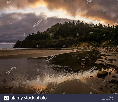 Agate Beach Sunset Stock Photos