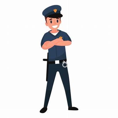Policeman Officer Clipart Illustration Police Transparent Cartoon