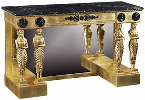 Empire Style Giltwood Console Table Console Hall Tables