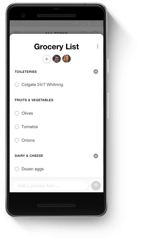 grocery list app  android anydo