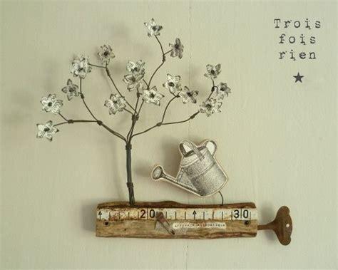 deco mural en fer d 233 co mural arbre fleuri fil de fer bois et papier accessoires de maison par trois fois rien