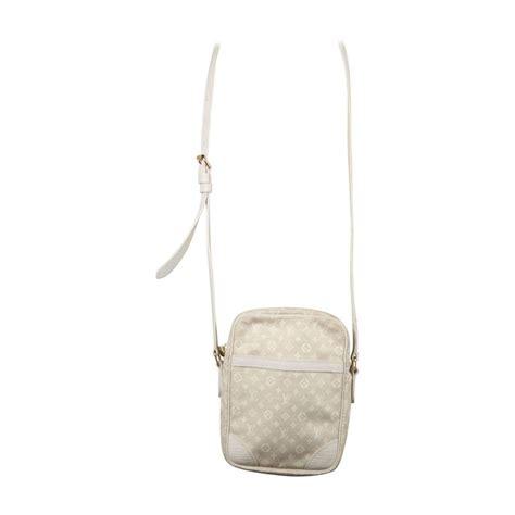 louis vuitton beige mini lin monogram canvas danube messenger bag cross body  sale  stdibs