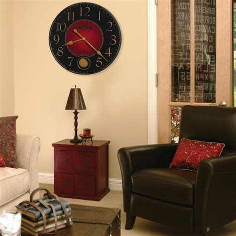 ideas  modern interior decorating  large wall clocks
