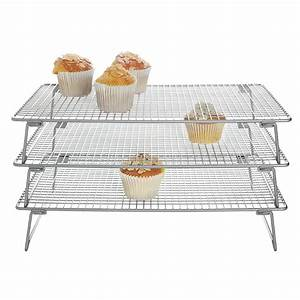 3 Tier Cooling Rack 400x250mm - All Things Baking