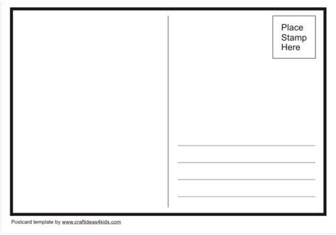card template preschool template you can use to make your own postcards
