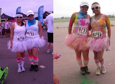 color run tutu pictures of running in tutus color run white