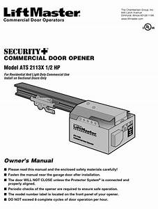 Chamberlain Liftmaster Ats 2113x Owner U0026 39 S Manual Pdf