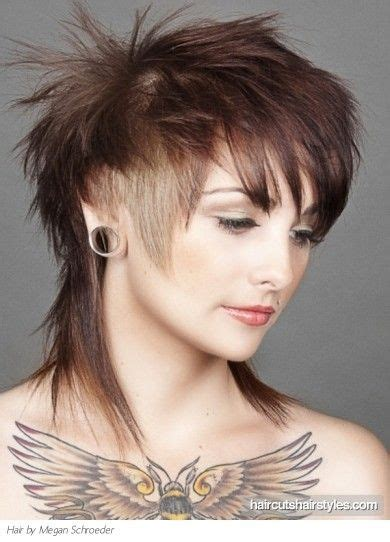 Punk Haircuts For Women Glam Layered Punk Hairstyle Punk