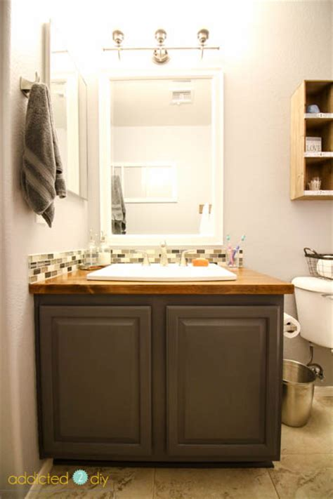 Home Depot Bathroom Makeover by Modern Farmhouse Guest Bathroom Makeover Addicted 2 Diy
