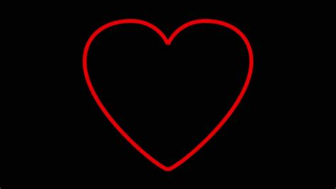 Red Heart Beating Isolated Over A White Background Stock