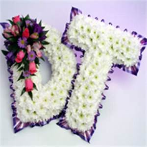 letters funeral tributes buttercups daisies wolverhampton With letter wreaths for funerals
