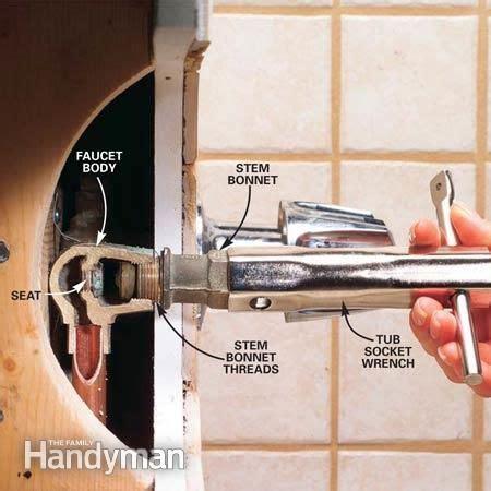 repair  leaking tub faucet faucets tubs