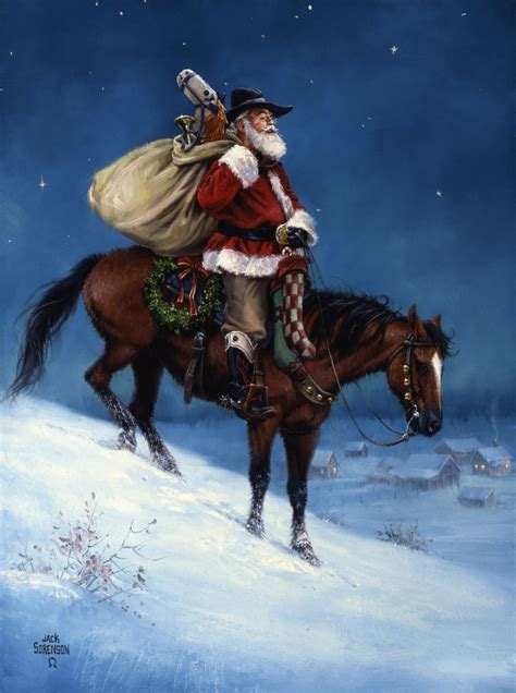 a cowboy christmas the old west art of jack sorenson