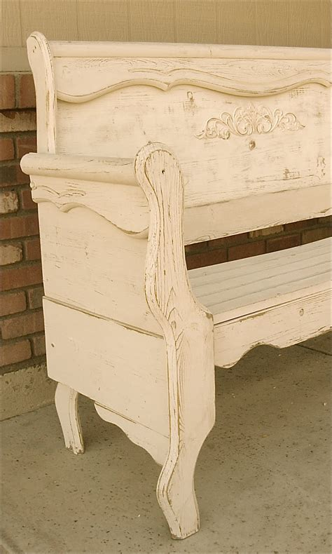 shabby chic bench the backyard boutique by five to nine furnishings creamy shabby chic bench