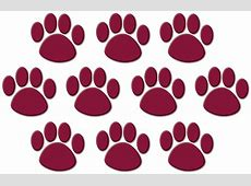 Maroon Paw Prints Accents TCR5046 Teacher Created