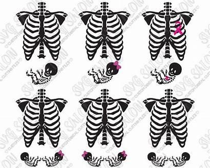 Skeleton Svg Pregnant Shirt Maternity Vinyl Decal