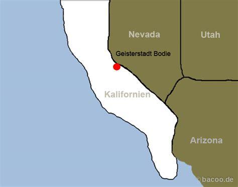 Kalifornien Foto - Karte: Geisterstadt Bodie ...