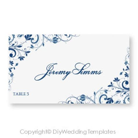 wedding place card template   diyweddingtemplates