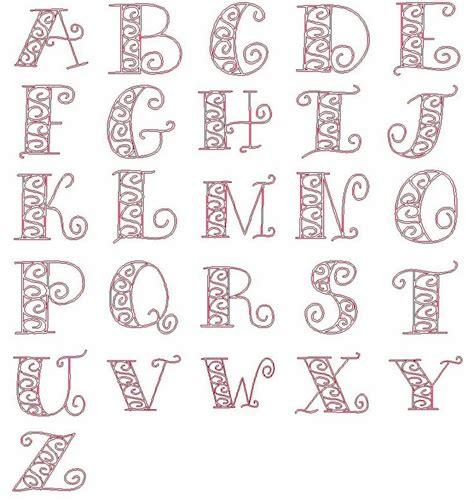 embroidery designs redwork scrolls alphabet