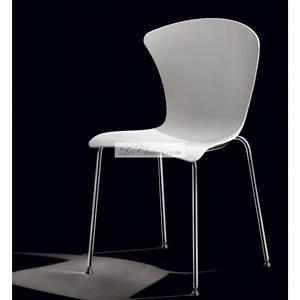Chaise Blanche Plastique : chaise blanche design glossy et chaises blanche infiniti lyon toulouse marseille ~ Teatrodelosmanantiales.com Idées de Décoration
