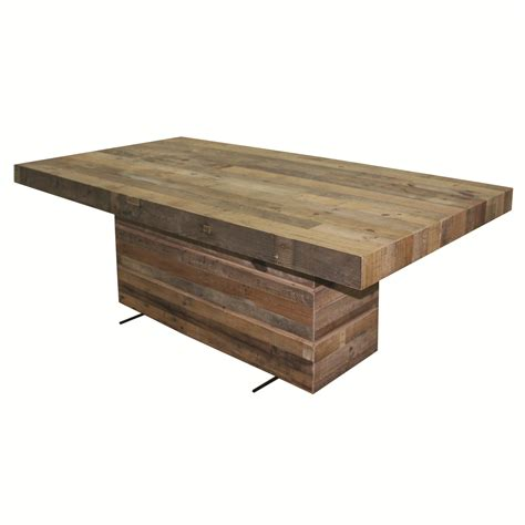 rectangular pedestal dining room table four hands sierra tahoe dining table with rectangular